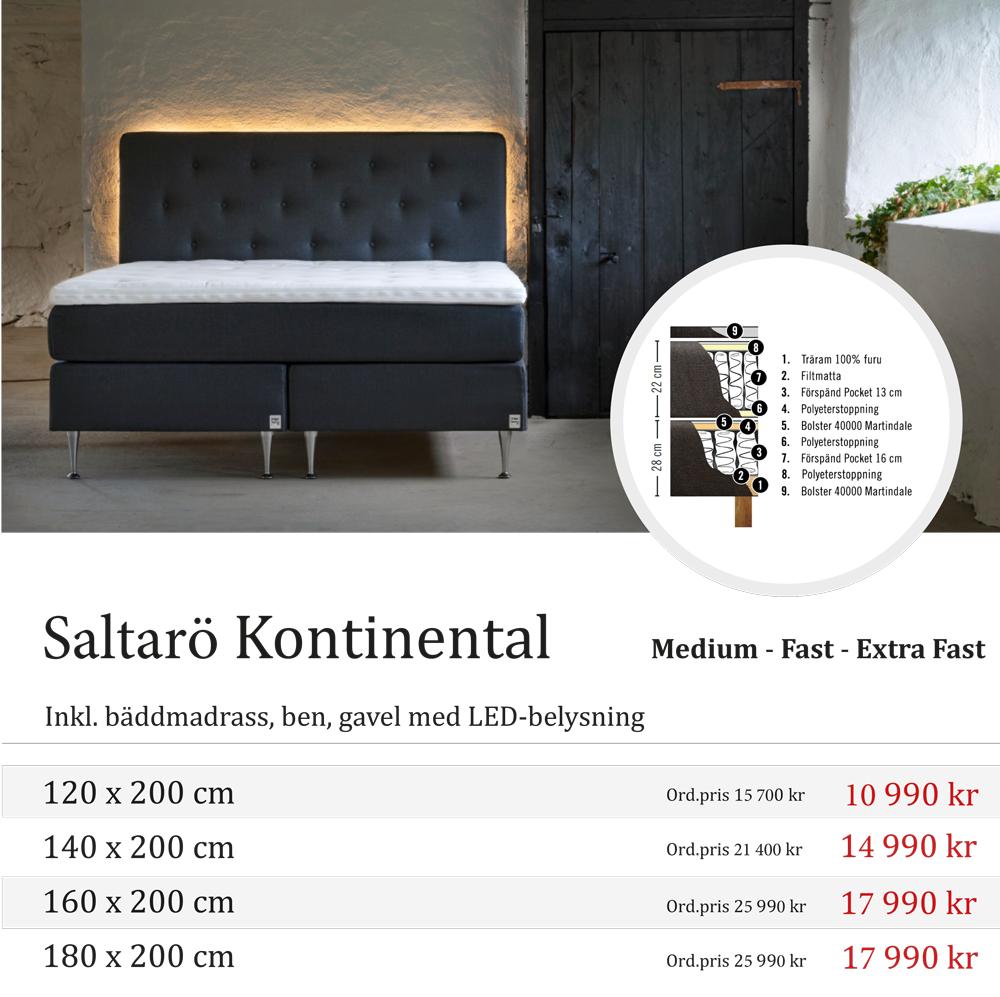 Kampanj på kontinental säng Saltarö hos Wermdö Sängar