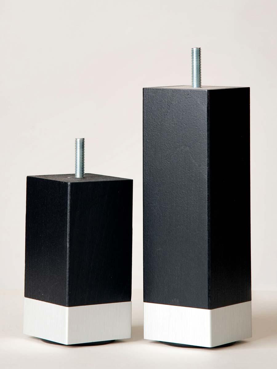 Ben svart med aluminiumklack